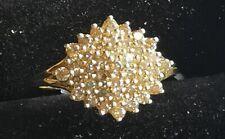 Beautiful 9ct Gold 3/4cts CHAMPAGNE Diamond Ring