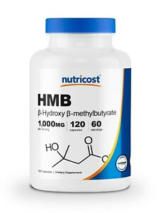 Nutricost HMB (Beta-Hydroxy Beta-Methylbutyric) 1000mg (120 Capsules)