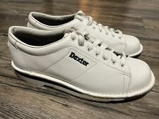 Dexter Mens SST 1 White Right Handed Bowling Shoes Sz 8.5  - Never Used