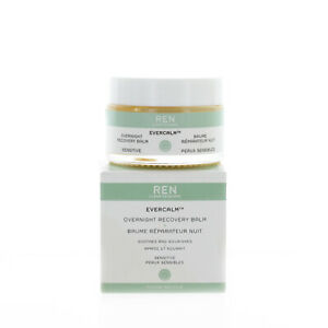 REN Clean Skincare Evercalm Overnight Recovery Balm 30ml 1.02oz NEW FAST SHIP