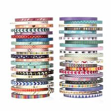 48 Rolls Washi Tape Set,Foil Gold Skinny Decorative Masking Washi Tapes,3MM