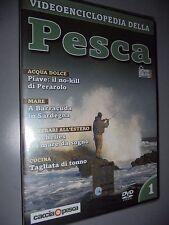 DVD N°1 VIDEOENCICLOPEDIA DELLA PESCA ACQUA DOLCE MARE BARRACUDA CUCINA TONNI