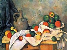 PAUL CEZANNE STILL LIFE DRAPERY PITCHER FRUIT BOWL OLD PAINTING PRINT 2125OMA