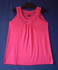 Samoon Top Gerry Weber pink Longtop Damen Stricktop Viskose-Mix Neu Damen Gr.48
