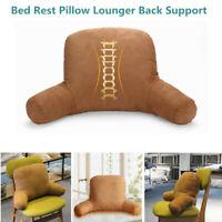 Home Bed Rest Pillow Lounger lumbar Back Support Arm Reading Bedrest Cushion