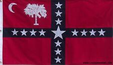 HEAVY COTTON 3 FEET X 5 FEET  SOUTH CAROLINA SOVEREIGNTY FLAG - CSA SECESSION