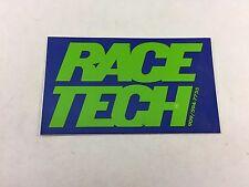 Race Tech Blue / Green Motocross Enduro Baja Sticker Decal