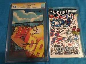 Superman: The Man of Steel #30 Collector's Ed. - DC - CGC SS 9.4 NM - 3x Signed