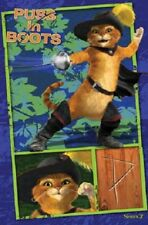 2004 DREAMWORKS SHREK 2 PUSS IN BOOTS FENCING FENCE POSTER 22X34 NEW FREE SHIP