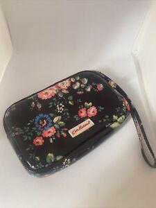Cath Kidston Purse Gadget Case Floral Flowers Black