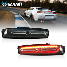 LED Tail Lights Smoked For Chevrolet Camaro Chevy 2016-2018 DRL Rear Lights