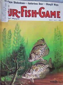 Vintage Hunting Fishing Magazine    FUR-FISH-GAME    5-71   KNUTH Cover Art.