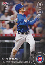 KRIS BRYANT 2016 TOPPS NOW 186 PRINT RUN 3075 Cubs 3 HR RARE On Line Exclusive