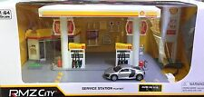 RMZ CITY 1:64 SHELL OIL SERVICE GAS STATION DIORAMA PLAYSET FOR TOMICA CHORO Q