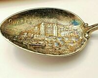 Vintage Sterling Silver Souvenir Spoon Quebec Canada Coat of Arms