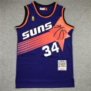 34# Charles Barkley Phoenix Suns 1992-93 Classics Men's Swingman Jersey Purple