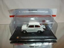 METRO  FIAT ABARTH 1000 BERLINA CORSA 1964 - WHITE 1:43 - EXCELLENT IN BLISTER