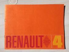 Brochure  RENAULT 4 L   - Prospectus French Prospekt  -CA155/8