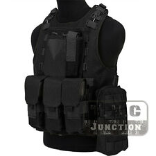 Tactical USMC MOLLE Quick Release Amphibious Combat Assault Body Armor Vest