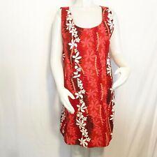 Vintage TY Size XXL Hawaiian Floral Print Sleeveless Sheath Dress Made in Hawaii