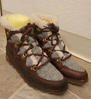 SOREL Womens Sneakchic Alpine Waterproof Leather Suede Ankle Boots Bootie Sz 8