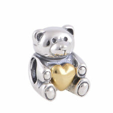 """Pandora ALE Sterling Silver """"lovely teddy bear"""" charm bead close out 791166"""