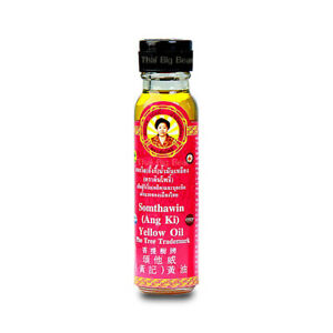 24cc SOMTHAWIN Ang Ki Yellow Oil Thai Massage Relief Aches Muscle Pain