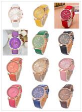 FL 1PC New Fashion Golden Leather Quartz DIY Bracelet Watch For Women