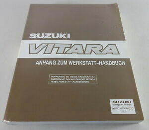 Manual de Taller Suplemento Suzuki Vitara SE416/SV620 Stand 12/1995