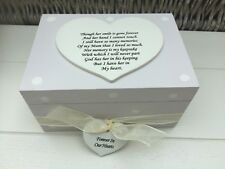 Shabby Personalised Chic Bereavement Memorial Box In Memory Of Mum Or Any Name