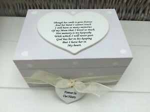 Bereavement Memorial Box In Memory Of Mum Or Any Name Shabby Personalised Chic