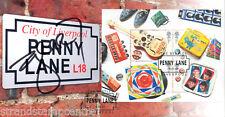 "Beatles 2007 M/S-Excelente Scott ""Penny Lane"" Cubierta-firmado por Gerry Marsden"