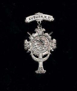 Auburn NY 1916 Knights Templar Medal. Salem Town Commandery