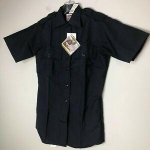 Elbeco Classic Womens Prestige Advance 9840LC Zippered Uniform Shirt S/S 34 Navy