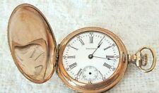 Pocket Watch Seaside Movement 7j; 0s. 1903 Waltham Runs & Sets Double Hunter