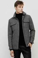 Over 55% OFF, WAS $228 WOOL-BLEND SHIRT JACKET KENNETH COLE BLACK LABEL