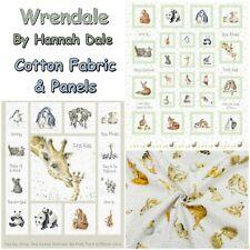 Wrendale Hannah Dale Maywood Studio Animals 100% Cotton Patchwork Craft Fabric
