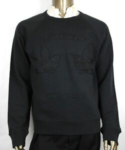 $960 Gucci Men Black Felted Cotton Jersey Knit Embroidery Details XL 408242 1285