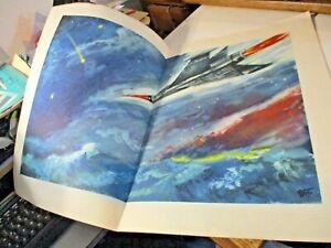 brochure originale con bozzetto a stampa A 30 MILIONI DI KM DALLA TERRA - 1957