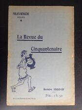Ancien Programme Theatre Folies Bergères Rouen revue du Cinquantenaire 1920 1921