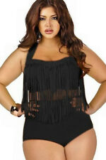 Rosy Fringed High-waist Swimwear Plus Size xxl bikini woman Sexy large bra 2xl