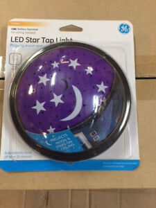 """GE Tap Light LED Star and Moon Projection 5.5"""" Tap Light (NEW)"""
