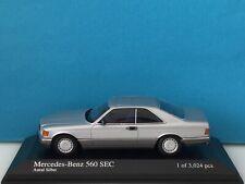 Minichamps 1:43 Mercedes-Benz 560 SEC Silver Modell Nr: 400 035120