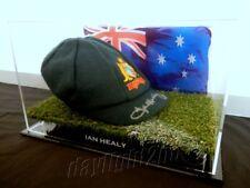 ✺Signed✺ IAN HEALY Replica Baggy Green PROOF COA Australia 2018 Shirt Cricket