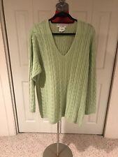 women sweater Maria di Ripabianca made in Italy size L 100 % cashmere Soft Green