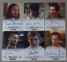 True Blood Premiere 6 Card AUTOGRAPH LOT - Buran Porter Frain Lowe Hyde Raymond