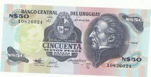 Uruguay Billet 50 Nuevos Pesos type 1988-89