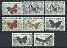 Centrafrique N°4/11* (MH) 1960/61 - Papillons