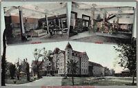 the Hotel Vendome, San Jose, California, Early Postcard, Unused
