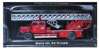 "DIE CAST "" METZ DL 52 KRUPP  "" VIGILI DEL FUOCO FIRE TRUCK SCALA 1/72"